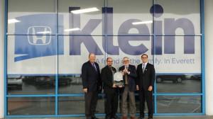 Klein Honda receives Environmental Leadership Award
